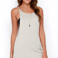 To Be Carefree Light Grey Sleeveless Dress