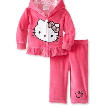 Hello Kitty Baby Baby-Girls Newborn 2 Pack Jacket Set, Fuchsia Purple, 3-6 Months