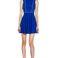 Viscose-Blend Tank Dress in Cobalt
