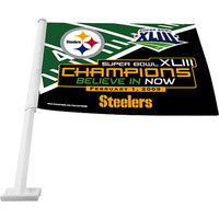 Rico Super Bowl 43 Champions Steelers Car Flag
