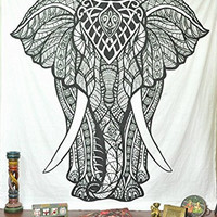 Jaipurhandloom Christmas Gift Elephant Tapestries Psychedelic Wall Hanging Elephant Tapestry Hippie Tapestry Wall Tapestries Bohemian Tapestries Indian Tapestry Wall Hanging