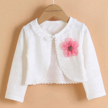 Hot Fashion Thin Cotton Cardigan For Girls Full-Sleeve Girls Cardigan Shrug 1-9T Girl Clothing Sweaters Spring Summer KC-1507
