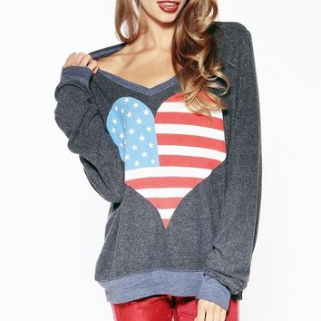 AMERICAN BEACH PARTY V-NECK BAGGY BEACH JUMPER at @BUSINESSNAME