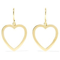 Jennifer Meyer - Open Heart 18-karat gold earrings