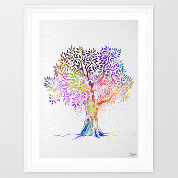 Tree Nature Love Watercolor Art Print,Wall Art Poster,Boy/Girl Room Decor Art,Nursery Art Print,Mother's day/Birthday/Wedding Gift, #260
