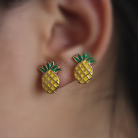 BeautyWay Pineapple Stud Earrings