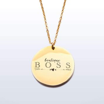 Boutique Boss Charm and Necklace