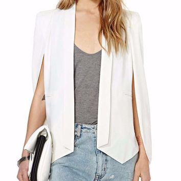 Split Sleeve Cape Blazer
