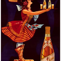 Miller High Life Beer Ad Poster 11x17