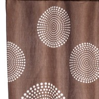 Carnation Home Fashions Hanover Fabric Shower Curtain, Brown
