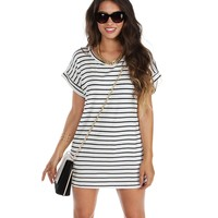 Promo-white Ringleader Striped Tunic