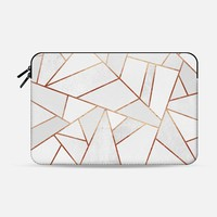White Stone and Copper Macbook 12 Sleeve by Elisabeth Fredriksson | Casetify