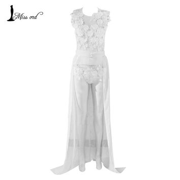 free shipping 2016 Sexy lace stitching thread empty waist shawl playsuits  FT2342