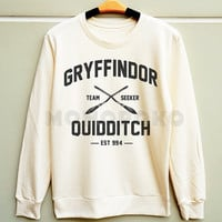 S M L -- Gryffindor Shirts Harry Potter Quidditch Sweatshirt Jumpers Long Sleeve Shirts Sweater Unisex TShirts Women TShirts Men TShirts