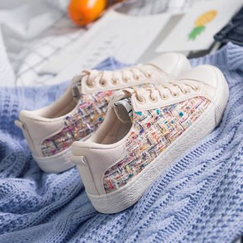 Women canvas female shoes women platform shoes sneakers
