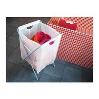 JÄLL Laundry bag with stand, white - 18 gallon - IKEA