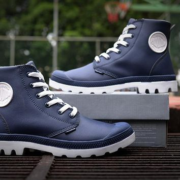 Palladium Pampa Hi Vl Boots Navy For Women & Men - Beauty Ticks