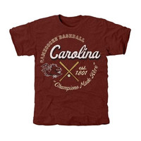 South Carolina Gamecocks Winner's Circle Tri-Blend T-Shirt - Garnet