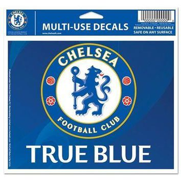 """Licensed Chelsea FC Official Soccer 4"""" x 6"""" Ultra Car Decal by Wincraft 258984 KO_19_1"""