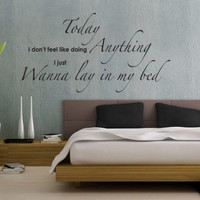 """Wanna Lay In My Bed -"""" Bedroom Wall Sticker Quote from Serious Onions Ltd 