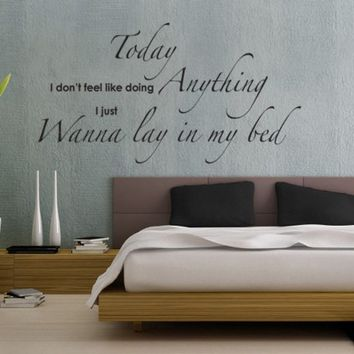 "Wanna Lay In My Bed -"" Bedroom Wall Sticker Quote from Serious Onions Ltd 