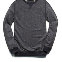 Speckled French Terry Pullover Blue/Navy