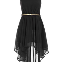 Asymmetric black dress. - Dorothy Perkins