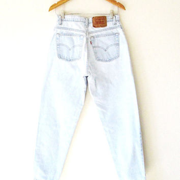 Wms Vintage 1990s LEVI 550 High Waisted Red Tab Jeans Sz 9