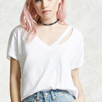 Ripped Neckline Tee