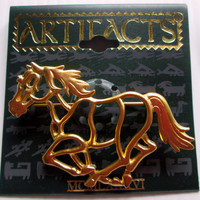 Horse  Vintage pin signed JJ Jonette Jewelry  brooch, new old stock, made in the USA, unique gift under 20, collectible Artifacts
