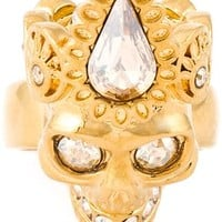 Alexander Mcqueen Queen Skull Cocktail Ring - Julian Fashion - Farfetch.com