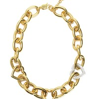 Gold Multi Heart Necklace by Juicy Couture, O/S