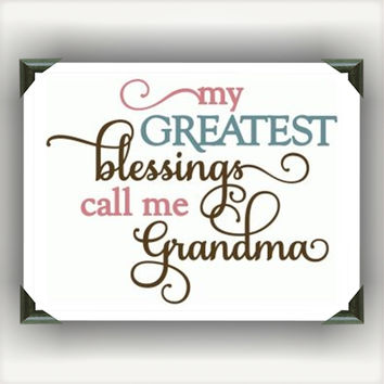 "Greatest Blessings call me Grandma Painted/Decorated 12""x12"" Canvases - you pick colors"