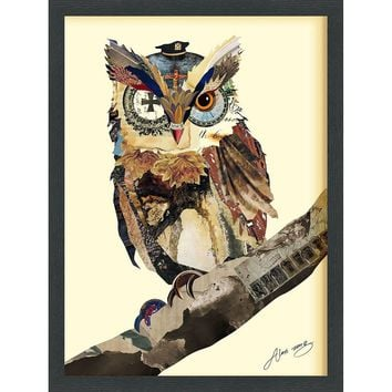 The Wisest Owl ~ Art Collage