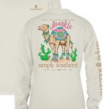 Simply Southern Sparkle Long Sleeve Top- Cream