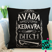 Avada Kedavra Bitch Harry Potter Zippered Pillow Case, Cushion Case, Pillow case