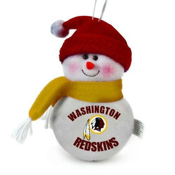 3 Christmas Ornaments - Washington Redskins