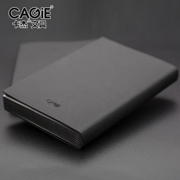 2017 Cagie New Hardcover Faux Fitted A5/a7 Office Planner Notebook Line Page/blank Page Sketchbook Students Pockets Filofax