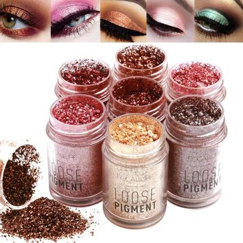 2018 Newly Focallure Makeup Glitter Mermaid Eye Shadow Cosmetic Diamond Lips Loose Pigment Powder Eyes Make Up Shiny Eyeshadow