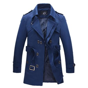 Windbreakers for men Solid color Slim Business Casual jacket for men casual windrunner windproof High Quality Gent Life