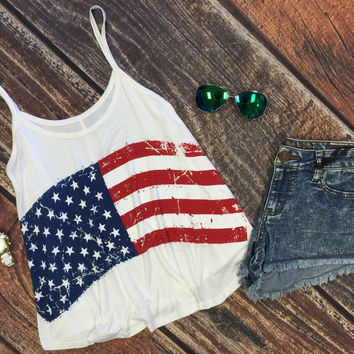 Wave Your Flag Cropped Tank