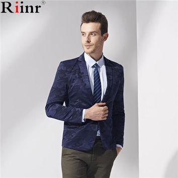 Men fashion Casual Slim Blazers Spring New Arrival Fashion Party Single Breasted Men Suit Jacket