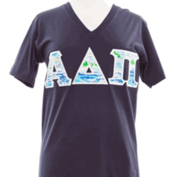 Alpha Delta Pi Lilly Tshirt, ADPI, American Apparel, Stitched Letters