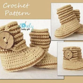 CUPUPS Crochet Pattern, Baby Boots Pattern Crochet, Shoes Crochet Pattern, Ugg Boots, Instan
