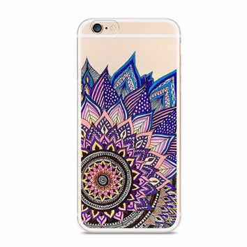 Blue Tattoo Boho Chic Mandala Case for iPhone 5 5S SE 6 6S Plus