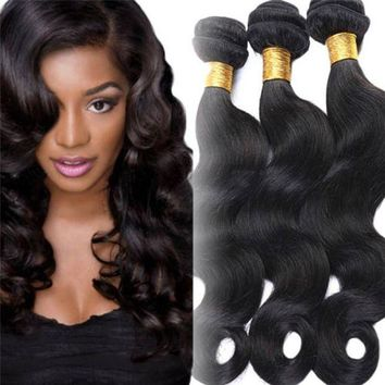VONE059 2017 Human Hair Unprocessed 7A Virgin Brazilian Weave Extensions Elegant fashion wig Classics drop shipping 17oct4