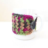 Coffe Mug Cozy - Tea Cup Sweater - Mother's Day Present - Coffee Lover Gift - Bunco Present - Crochet Cosy - Gift for Mom - Stocking Stuffer