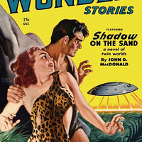 Vintage Sci Fi Poster A.N.C. Thrilling Wonder Stories
