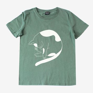 Kitty Fur Ball Tee | Green