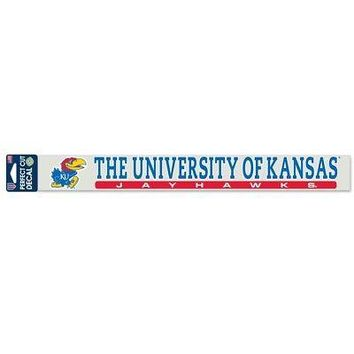 "Licensed Kansas Jayhawks Official NCAA 2"" x 17"" Die Cut Car Decal KU by Wincraft KO_19_1"